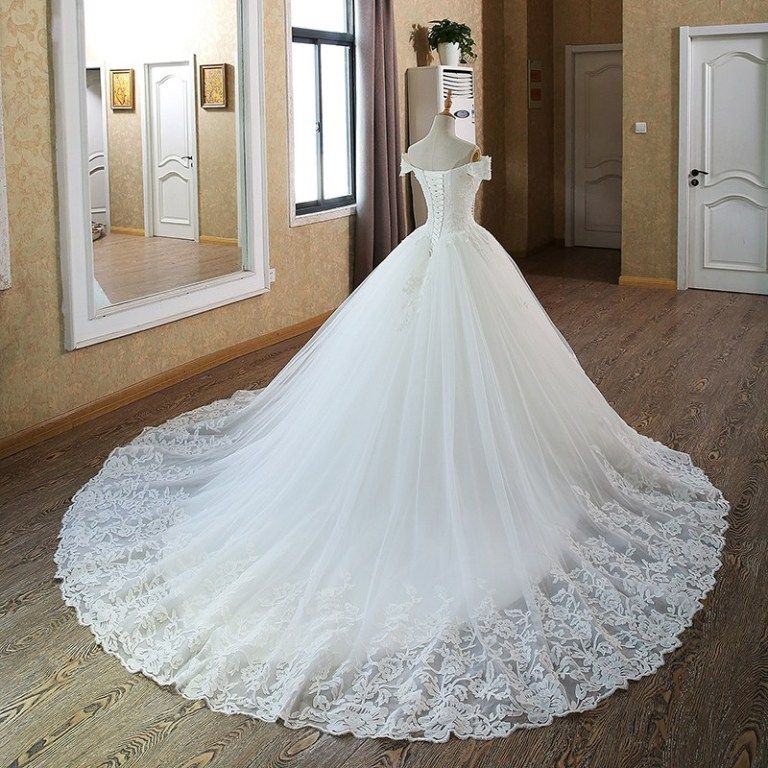 Aliexpress Com Buy Sl 82 Sweetheart Bling Bridal Gowns: Ball Gown Bridal Dresses Muslim Lace Wedding Dress