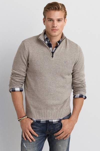 AEO Mock Neck Sweater by AEO   Warm up to the sweater every look ...