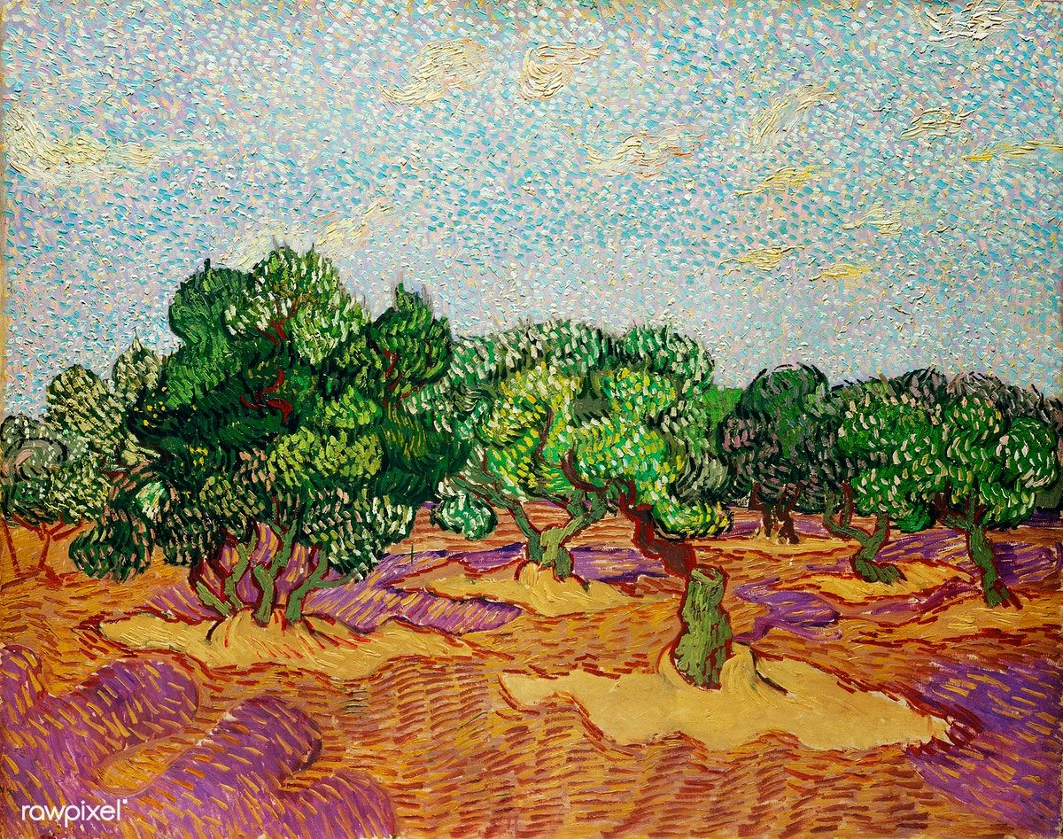 Olive Trees 1889 By Vincent Van Gogh Original From The Met