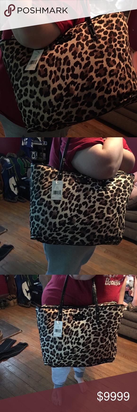 Kate Spade Cheetah print Kate Spade Tote !! kate spade Bags Totes
