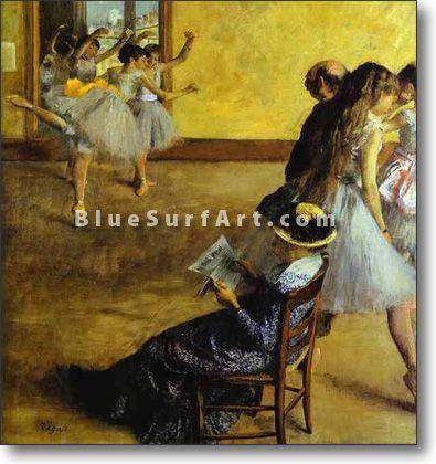 Ballet Class - £124.99 : Canvas Art, Oil Painting Reproduction, Art Commission, Pop Art, Canvas Painting