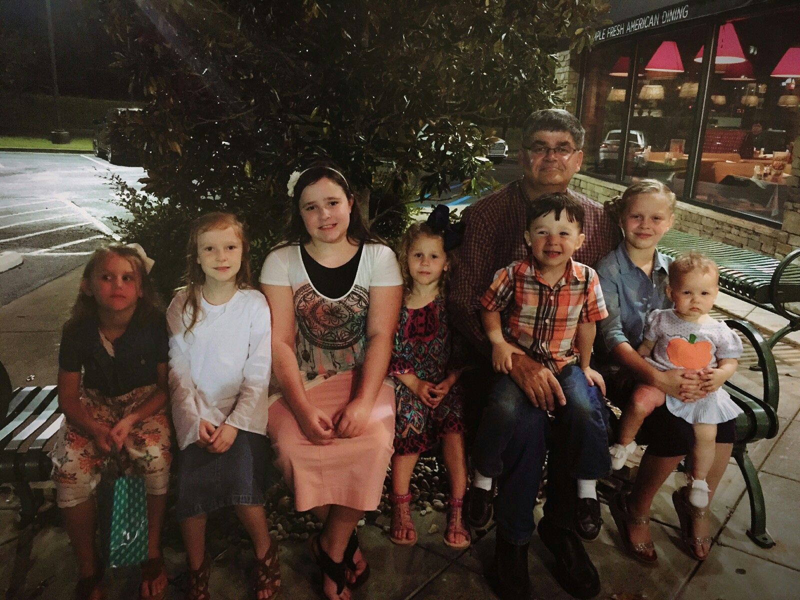 Daddy with all his grandkids !! 101317 Couple photos
