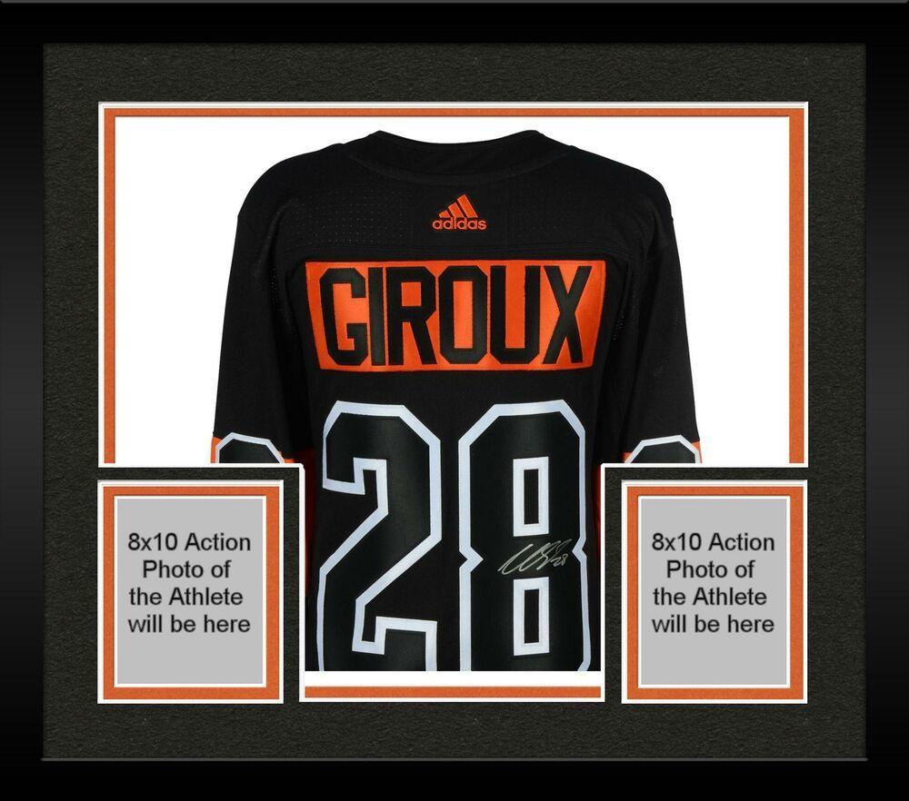 Framed Claude Giroux Philadelphia Flyers Signed Black Alternate Adidas Jersey Philadelphia Flyers Jersey Custom Baseball Jersey