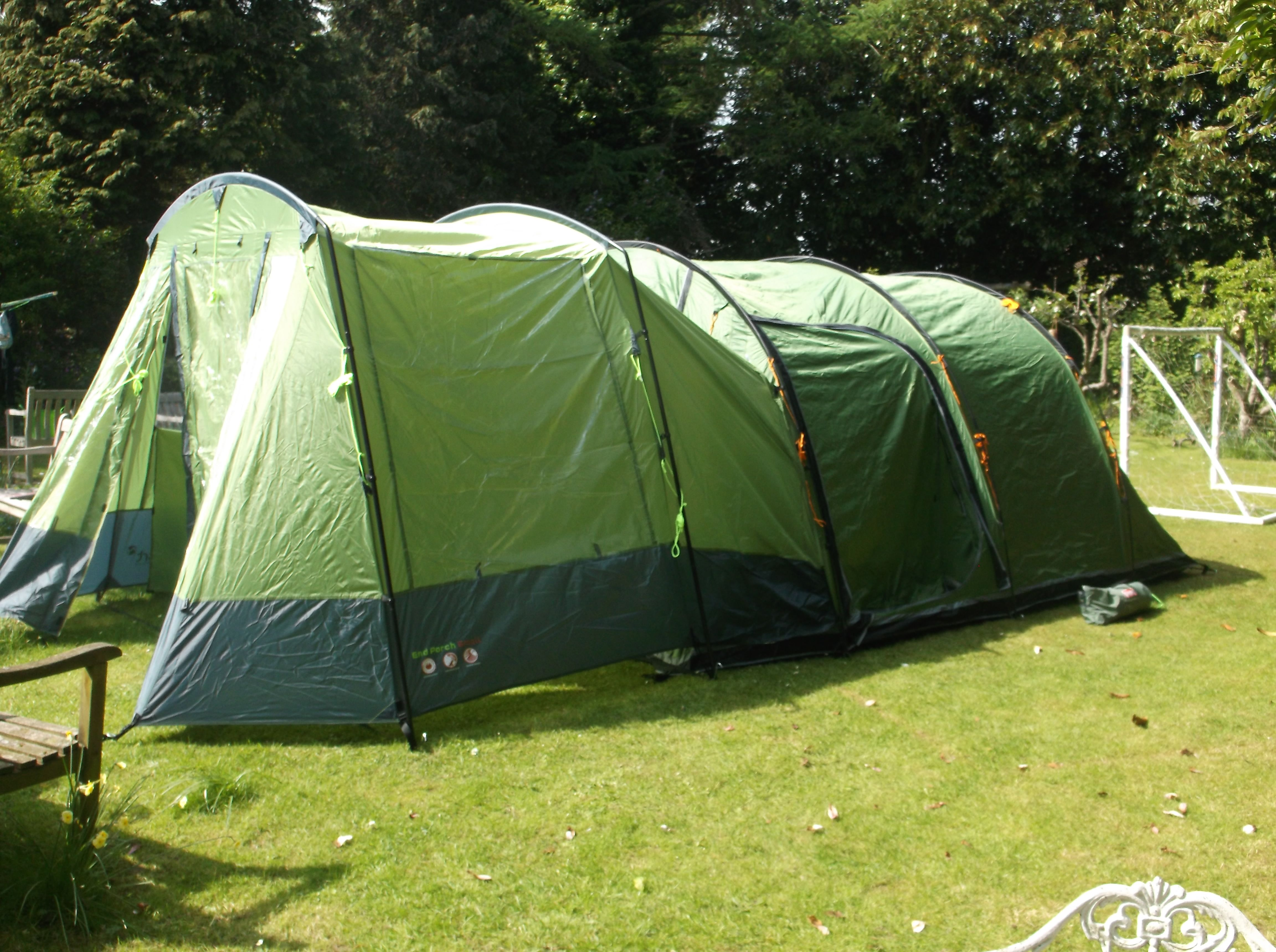 vango Icarus 500 with gelert small porch extension. Up with 1 child helping in 15mins & vango Icarus 500 with gelert small porch extension. Up with 1 ...