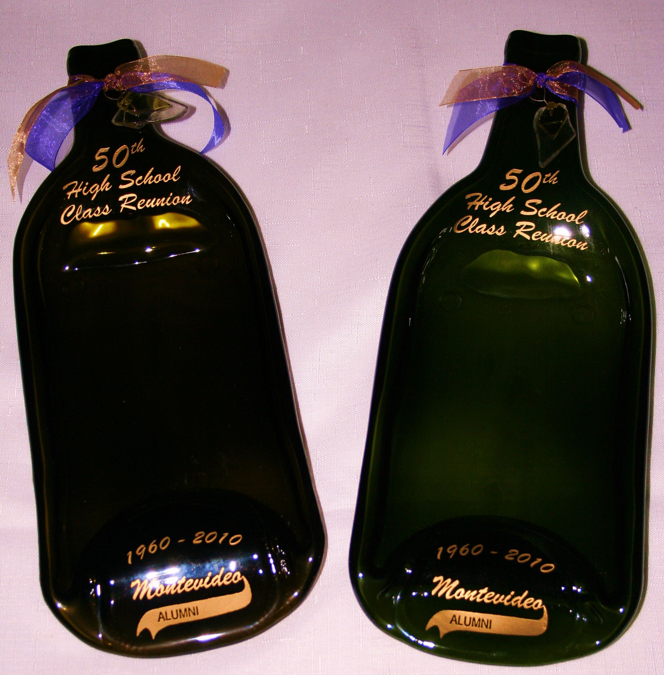 L Wine Bottle Bowls Personalized To Be H S Class Reunion Door Prizes At A Th