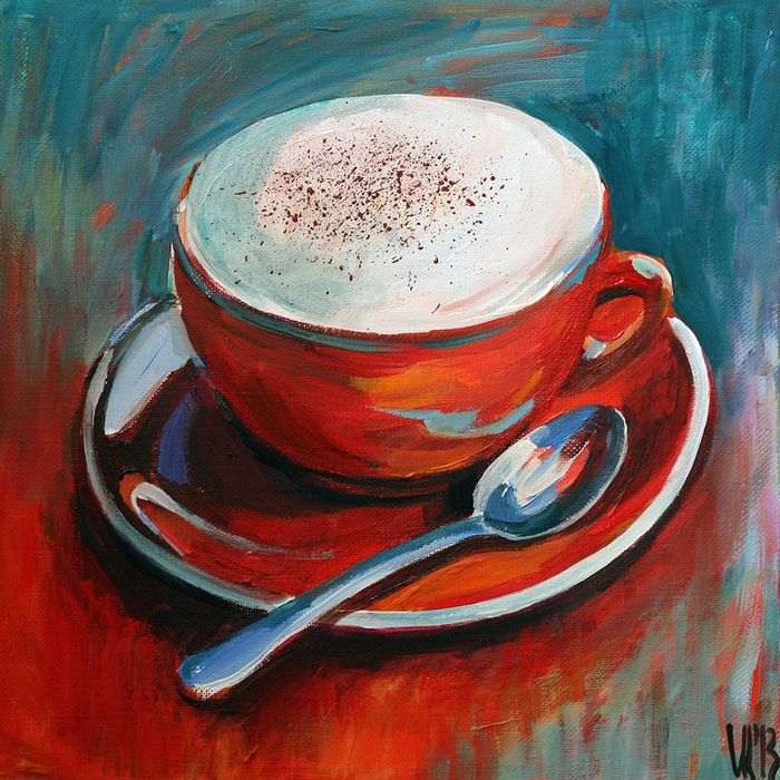 Red cup of coffee painting ideas pinterest cups for Painting with coffee