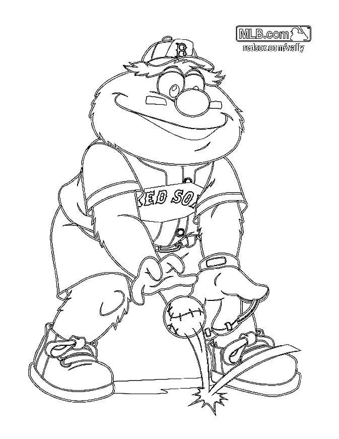 Wally Boston Red Sox Coloring Pages Coloring Home Baseball Coloring Pages Boston Red Sox Logo Monster Coloring Pages