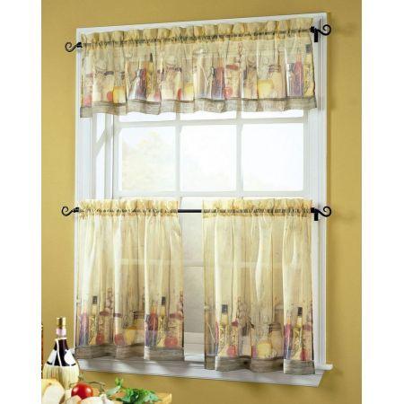 Tuscany Kitchen Curtain Insert Valance 60 Wide X 14 Tuscan Curtains Tuscan Kitchen Kitchen Curtain Sets
