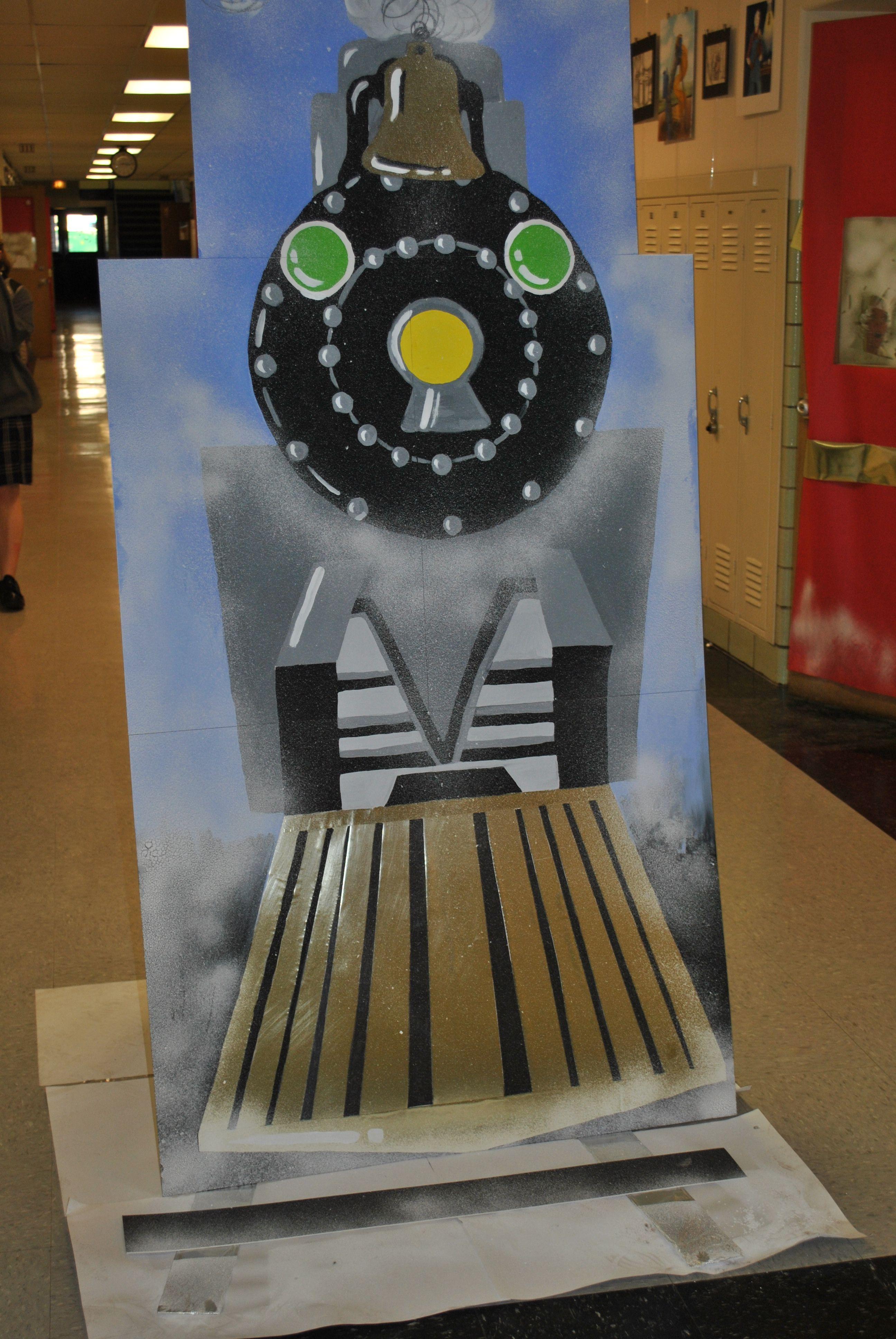 The Art Department won the contest with their rendition of the Polar Express where every door in the ... & Christmas Door/ kindergarten .... Train   School Doors   Pinterest ... pezcame.com