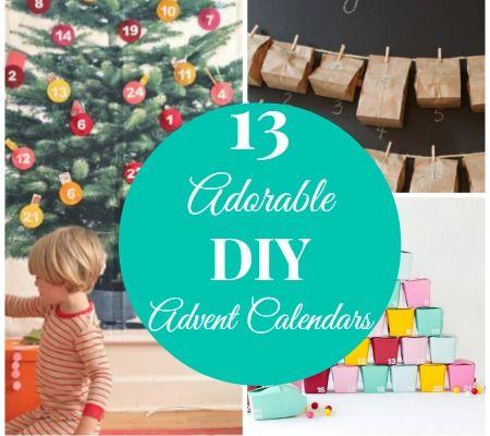13 Adorable DIY Advent Calendars Fun Kid Projects Pinterest