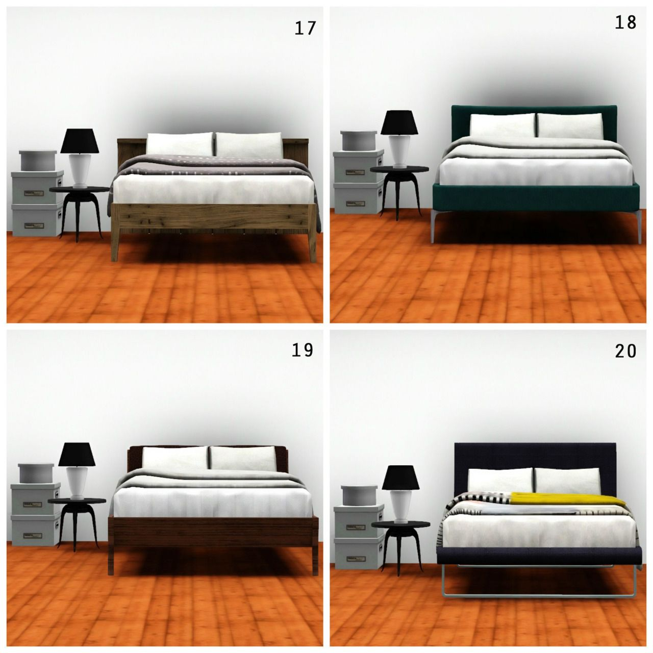 The Sims 3 CC Hunt, whitedotsims: MY FAVOURITE DOUBLE BEDS 1 ...
