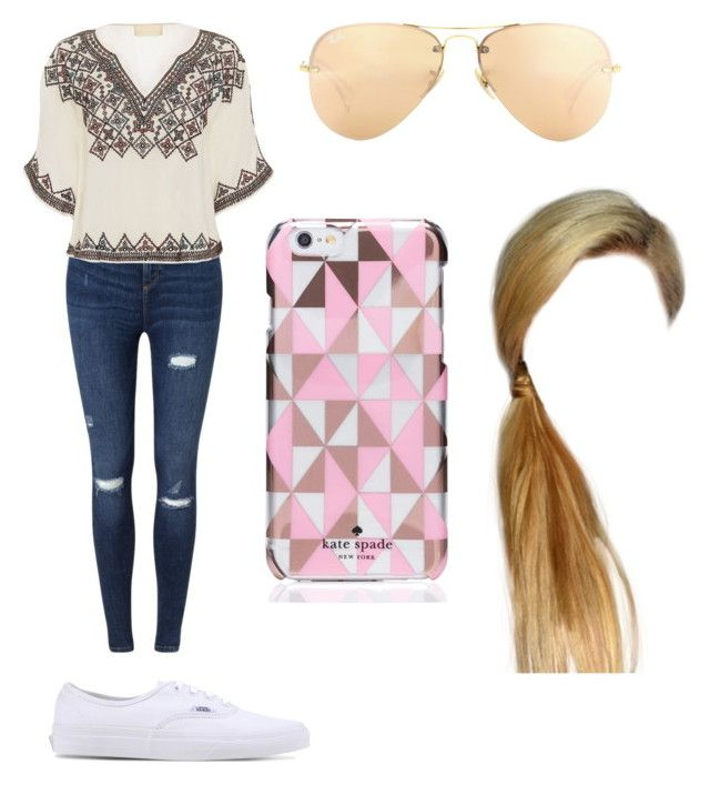 """""""Wacky Wednesday#1"""" by hazilsilversword on Polyvore featuring Miss Selfridge, Love Sam, Vans, Ray-Ban and Kate Spade"""