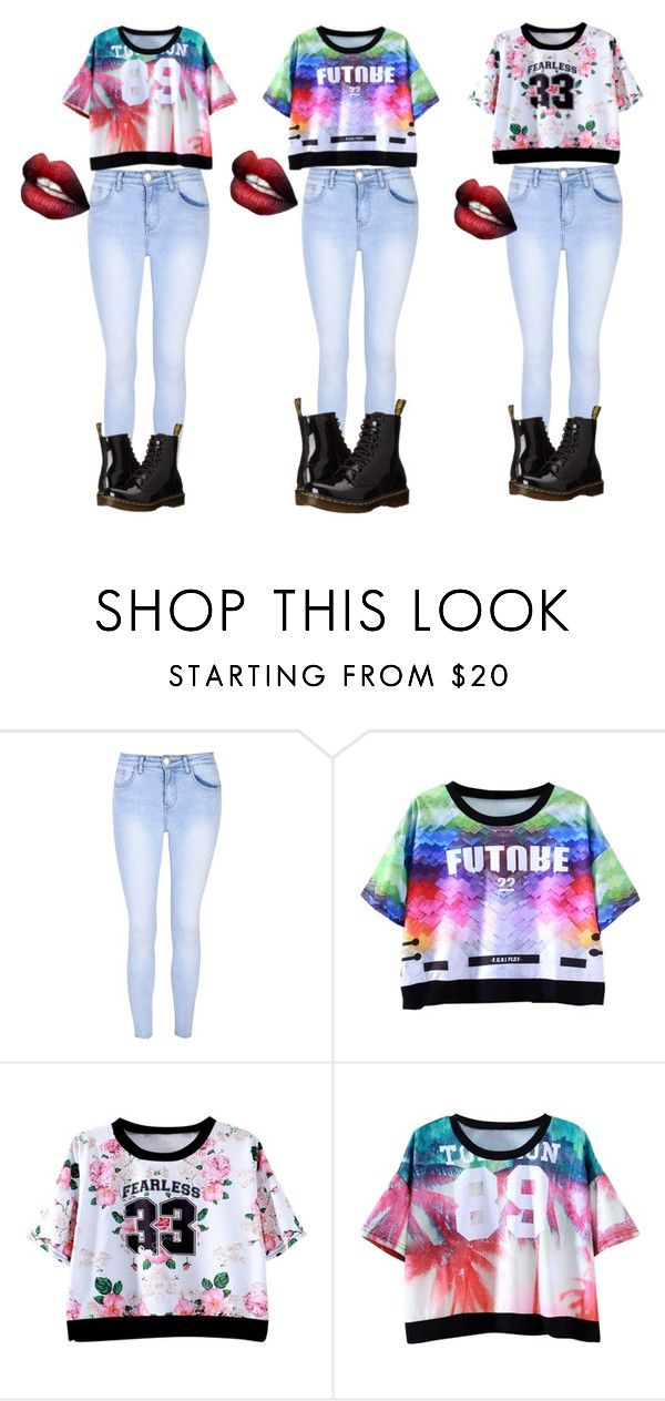 """Step back step back you dont know us like that"" by ulayler-rulez on Polyvore featuring Glamorous and Dr. Martens"