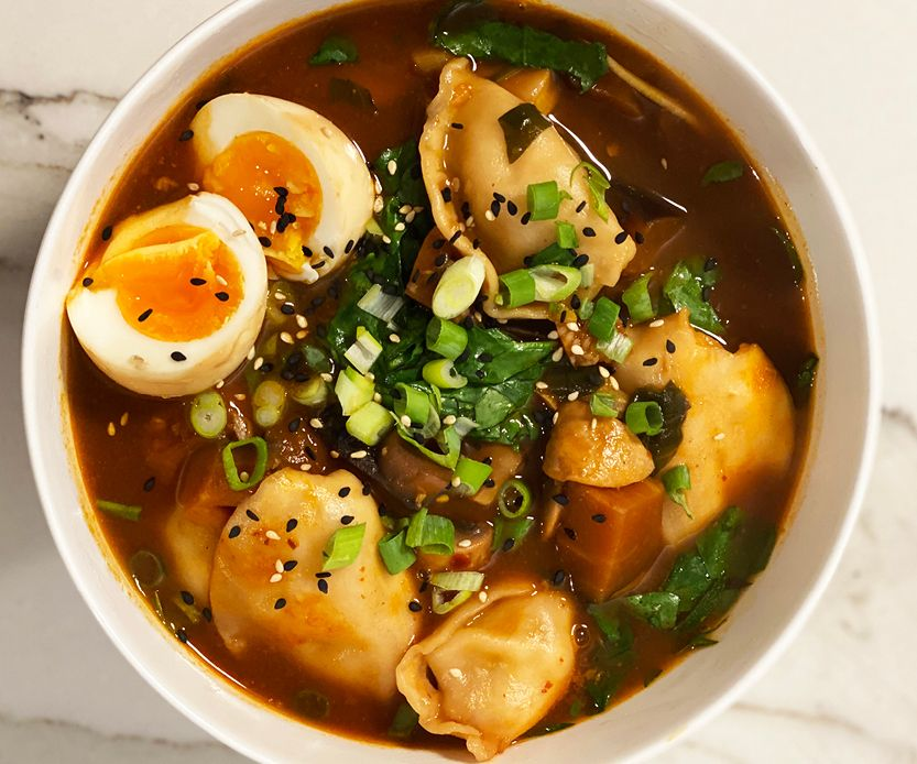 Hearty and healthy, this dumpling soup is the perfect