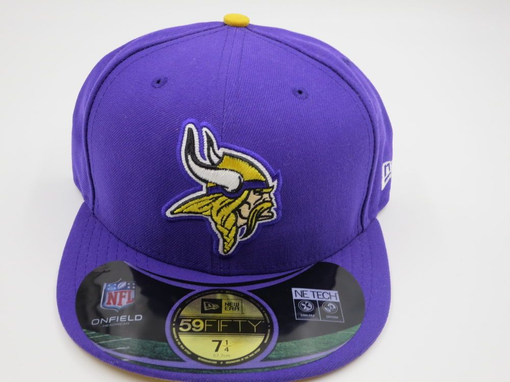 7cf1f8da9 New Era Minnesota Vikings NFL Sideline 59Fifty Purple Fitted Hat ...