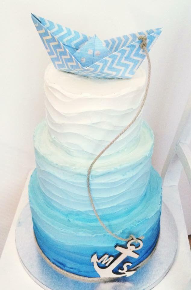 Hochzeitstorte Maritim Mit Personalisiertem Anker Yummy Wedding