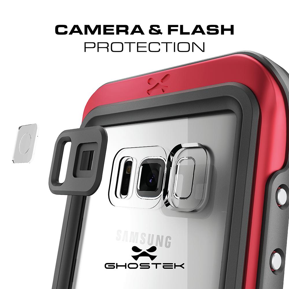 promo code 2d398 6d105 Galaxy S8 Waterproof Case, Ghostek Atomic 3 Silver Series ...
