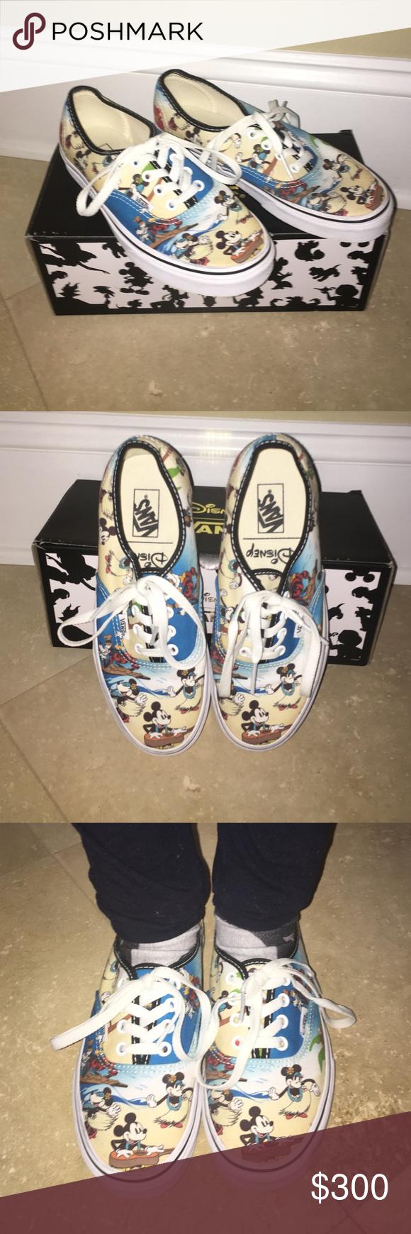Disney Aloha Vans authentic Disney Aloha Vans authentic new no trade Vans Shoes Athletic Shoes