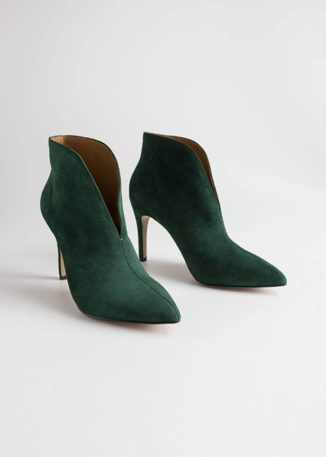 And Other Stories Front Cut Suede Boots