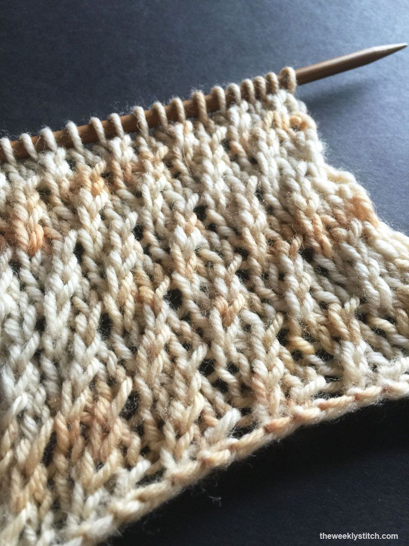 Twisted Stockinette Rib | The Weekly Stitch | Knit Stitches and ...
