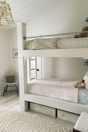 Cottage Kids Bedroom With Wall Sconce Carpet Flush Light Hardwood