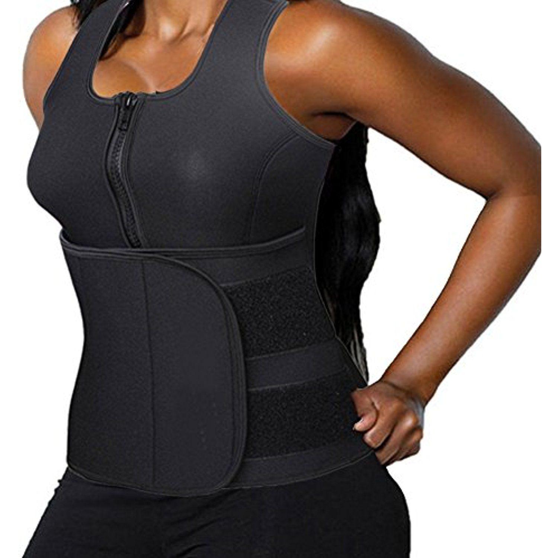 34654882a2 DODOING Zipper Waist Trimmer Trainer Belt Women Shapewear Weight Loss  Neoprene Sauna Tank Top Vest Body Shaper Slimming Fajas     Read more at  the image ...