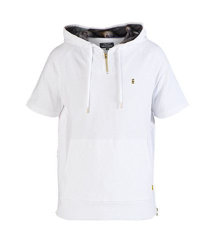 FINALLY FAMOUS Partial zip hoodie Adjustable drawstring on hood ...
