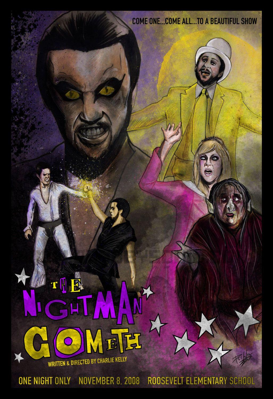 nightman cometh musical 13 x 19 poster