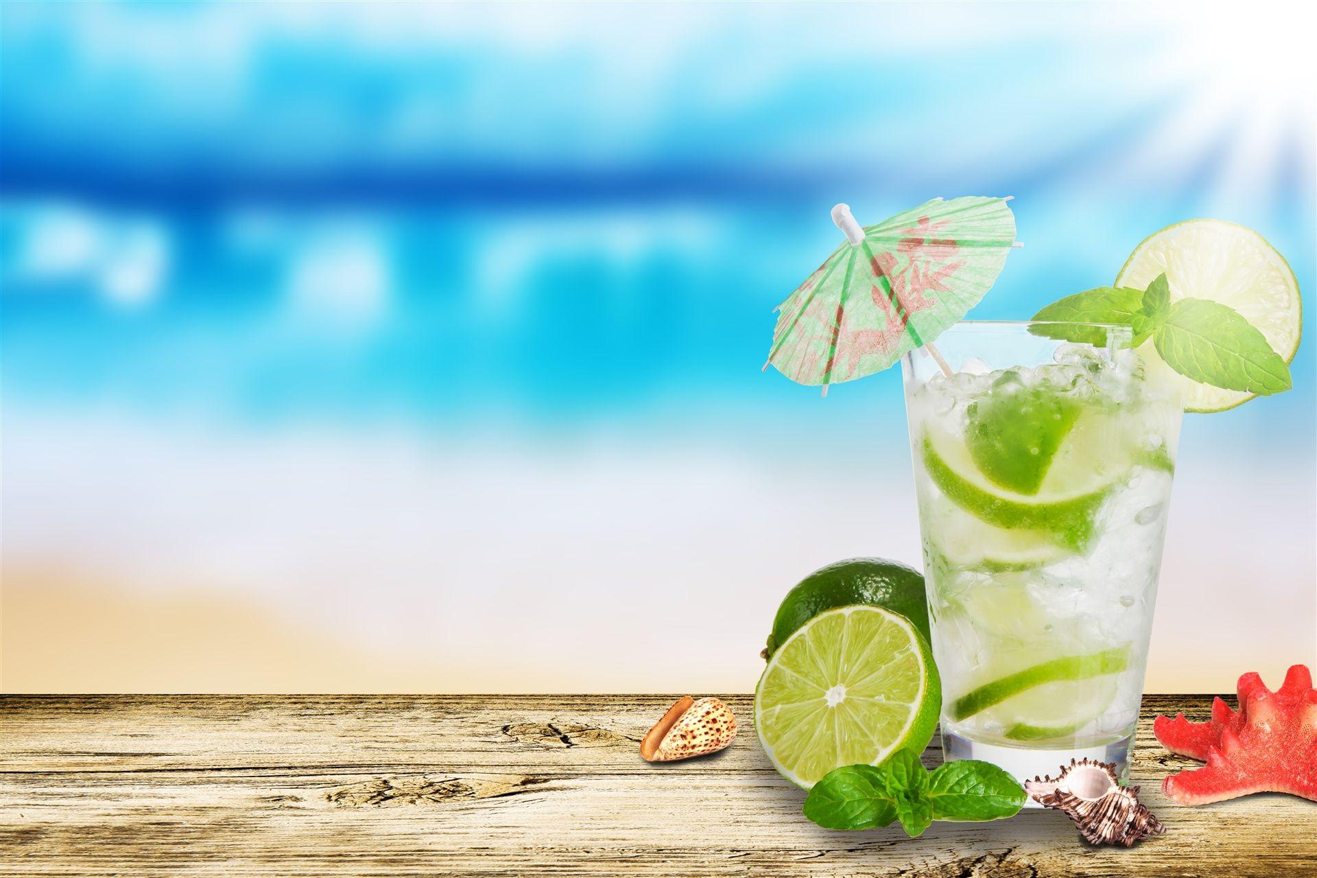 #un+parapluie,+#chaux,+#étoile+de+mer,+#coquilles,+#mojito,+#verre