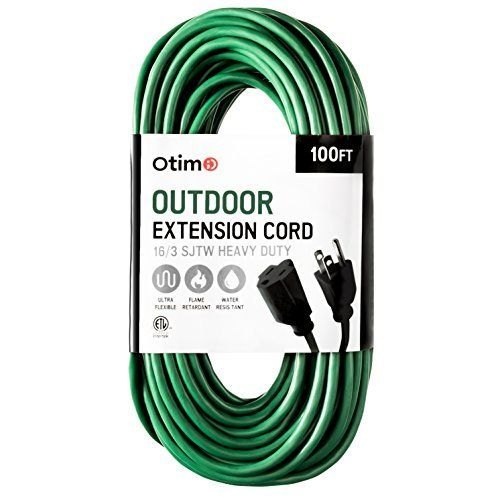 Otimo 100 Ft 16 3 Outdoor Heavy Duty Extension Cord 3 P Https Www Amazon Com Dp B073vzv6kf Re Outdoor Extension Cord Heavy Duty