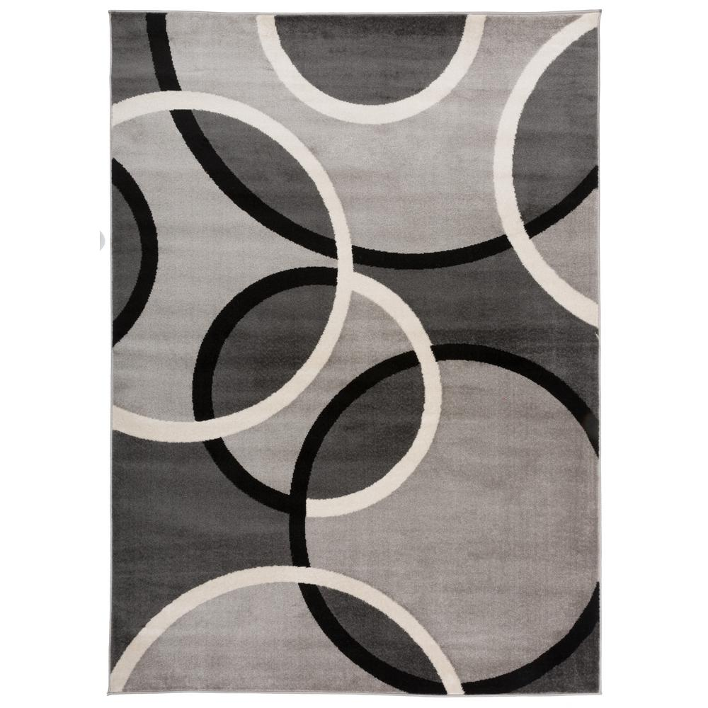 World Rug Gallery Contemporary Abstract Circles Area Rug 5 3 X 7