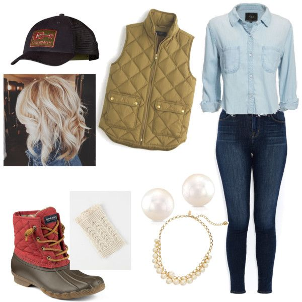 For those cool fall days. by ashtonwest on Polyvore featuring polyvore, fashion, style, Rails, J.Crew, J Brand, Sperry Top-Sider, Kate Spade and Patagonia