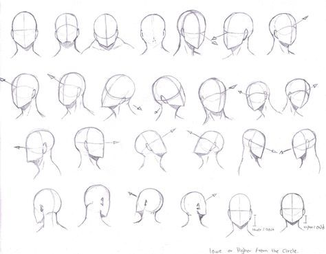 Drawing Manga Heads From Different Angles