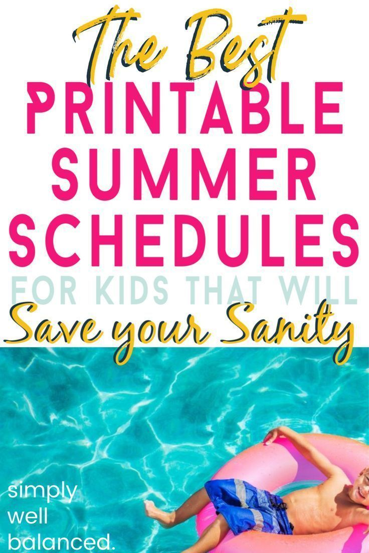 Summer Schedules for Kids that will Save your Sanity #summerschedule All of the best printable summer schedules for kids in one place! Daily, weekly and monthly activities to keep your kids busy all summer long. These simple summer schedule templates for kids will make life so much easier! An easy way to have fun and save your sanity! #summer #summerfun #printables #boredombusters #summerschedule Summer Schedules for Kids that will Save your Sanity #summerschedule All of the best printable summe #summerschedule