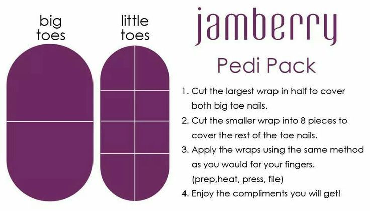 Jamberry Pedi Pack - uses for your left over Jamberry Nail Wraps ...