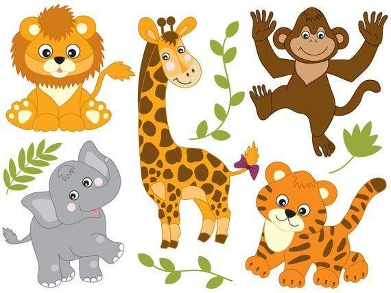 safaritiere clipart  digital vector safaritiere löwe