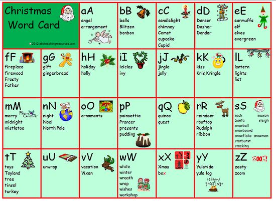 Christmas Words A Z.Pin On Christmas Party Games