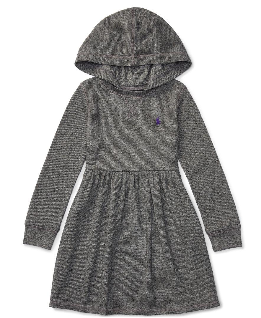 Ralph Lauren Hooded Long Sleeve Dress Toddler Girls 2t 5t Little Girls 2 6x Kids Dress Long Sleeve Dress Toddler Girl Dresses [ 1080 x 884 Pixel ]