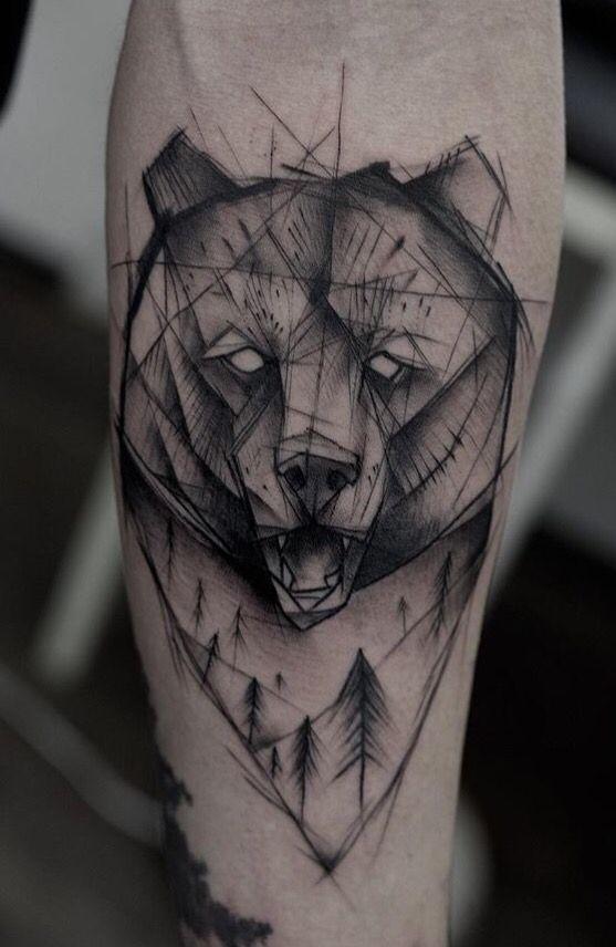 Kamil Mokot Bear Tattoo Tatuajes De Osos Tatoveringer Y Ideer