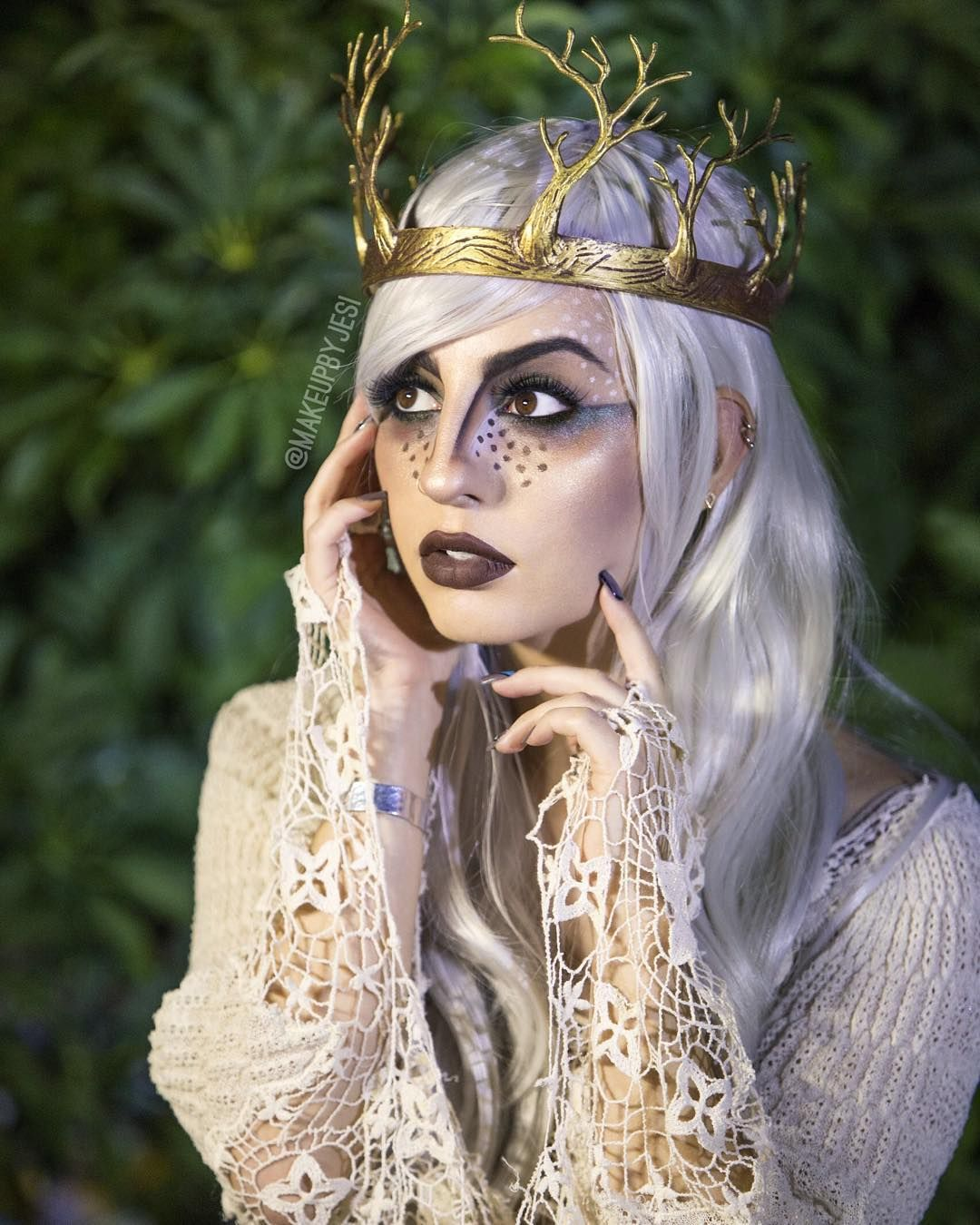 J E S I M U A On Instagram Tutorial On This Woodland Fairy Look Is Now Live On Youtube Com Mesije Woodland Fairy Makeup Fairy Makeup Woodland Fairy Costume