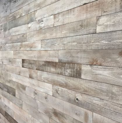 As Is Wood Walls White Ish Bedroom Living Room Grey Gray Brown Light Reclaimed Reclaimed Wood Accent Wall Distressed Wood Wall Reclaimed Wood Paneling