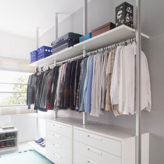 This Home Has Many Cool Ideas, Like This Open Closet And A