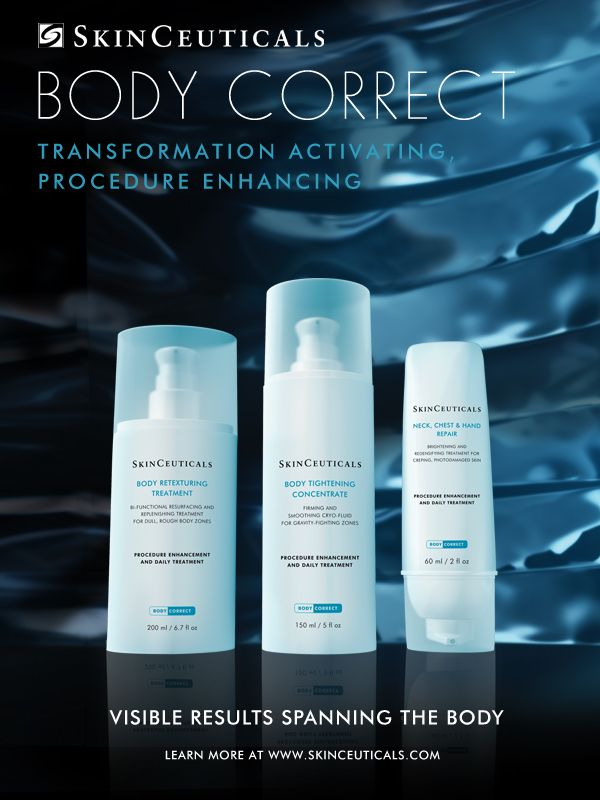 i just saw skinceuticals new body correct product range and entered