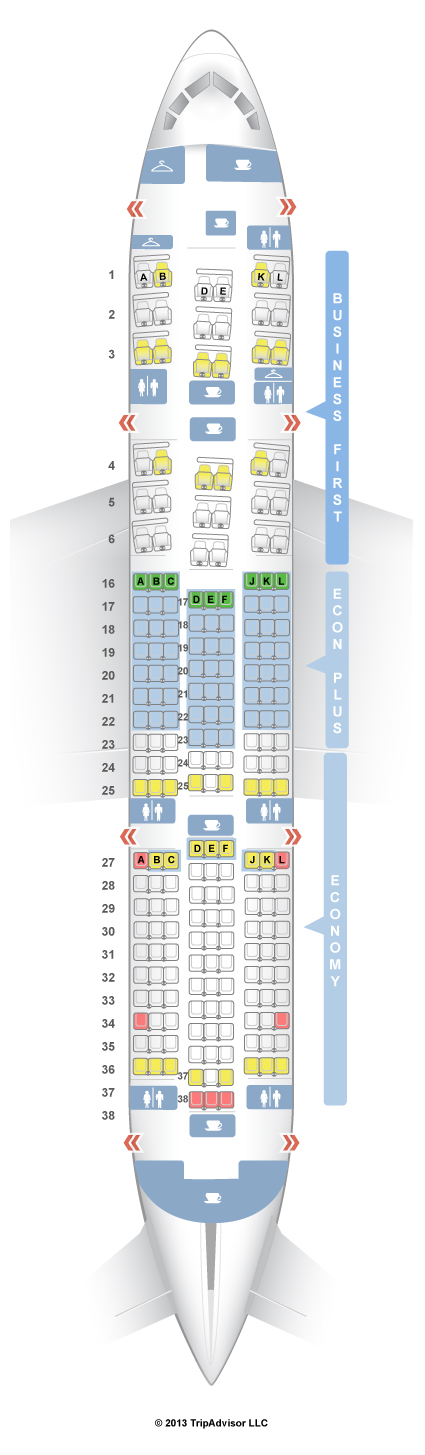 SeatGuru Seat Map United Boeing Dreamliner - Us airways seat map