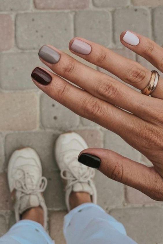 11 Fall Nail Colors You Need Right Now Best Fall Nail Polish Colors In 2020 Minimalist Nails Fall Nail Colors Dream Nails