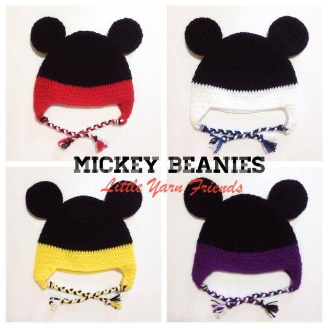 Mickey Beanies - free crochet pattern | Amigurumi, Crochet, or ...