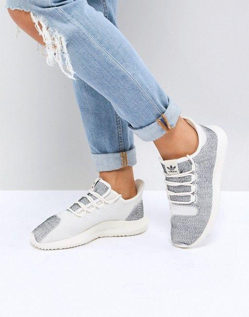 Adidas Originals zapatillas en blanco fetichismo de pies tubulares de sombra