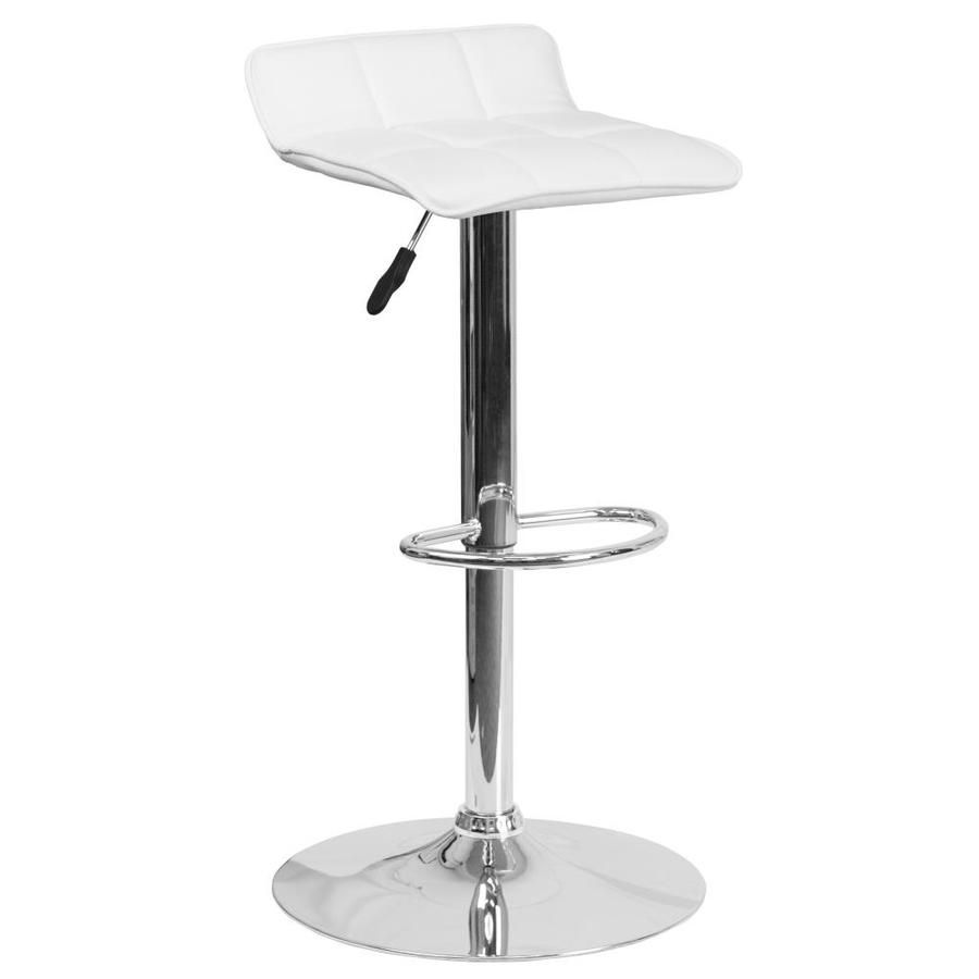 Flash Furniture White Adjustable Stool 889142056454 In 2020 Flash Furniture Adjustable Bar Stools Furniture Vinyl