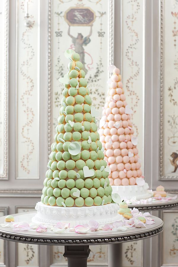 On The Scene Laduree Nyc Bridal Breakfast Event French Wedding Cakes Individual Wedding Cakes Wedding Macarons