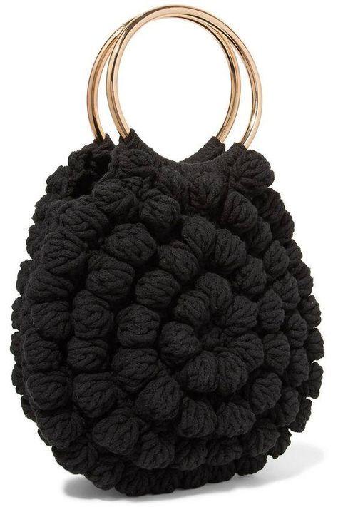 au crochet un sac au point pop corn - La Grenouille Tricote
